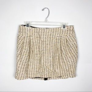 Tory Burch Tweed Zipper Back Skirt